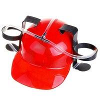 бесплатная доставка пиво может держатель шлем напиток веселых ну вечеринку питьевого шляпа - черный