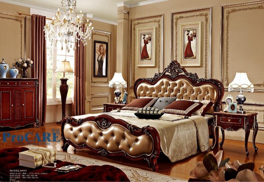 Hout Slaapkamer Meubels : Verenigde koninkrijk stijl luxe solid rose hout slaapkamer meubels