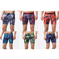 Men's Spandex Exercise Camouflage Compression Workout Shorts Men Running Tights Base Layer Skinny Sport Training Shorts Multi