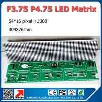 Готово к отправке в наличии одна коробка для выведения токсинов, 40 шт F3.75 P4.75 точечно-матричный светодиодный 304x76 мм внутренний только красно...