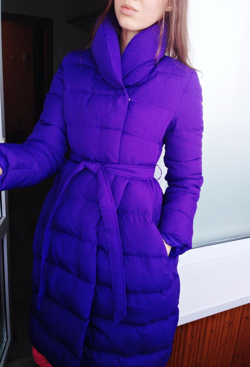 Недорогой женский демисезонный пуховик-пальто с Алиэкспресс