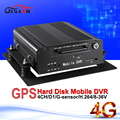4G hard disk mobile dvr with gps realtime surveillance cyclic recording alarm i/o track speed record playback hdd dvd recorder