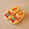 2016 детей Девочек сандалии мини сэд желе обувь атласная вишни ПВХ мягкая подошва детские сандалии мальчиков мелиссы Дождь boots14-16.5cm