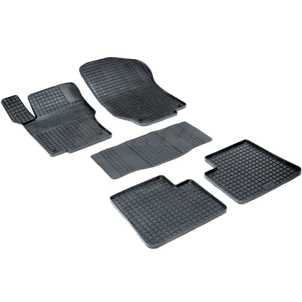 For Mercedes-Benz ML W164 2005-2011 Rubber grid floor mats into saloon 5 pcs/set Seintex 00896 for hyundai solaris 2011 2016 rubber grid floor mats into saloon 5 pcs set seintex 83112