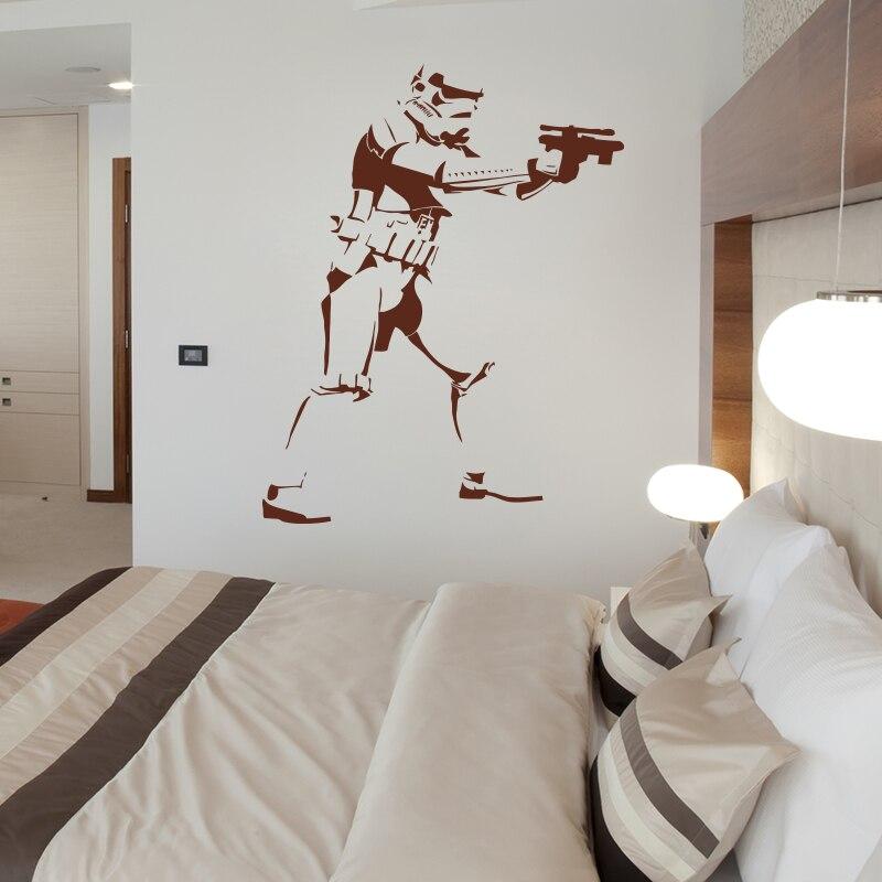 Art Design Stormtrooper Silhouette wall sticker DIY 3D home decor ...