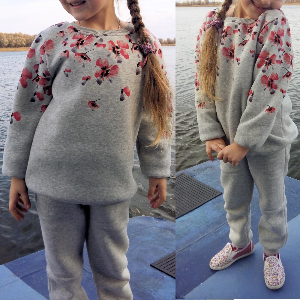 Теплый костюм для девочки всего за 940 рублей с Алиэкспресс