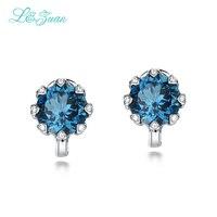 L & zuan nuovi orecchini di cristallo trendy 925 sterling silver 8.34ct topazio naturale elegante orecchini a clip per le donne regalo