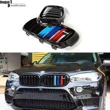 Запасные части для BMW X5 X6 серия F15 F16 полный привод транспортных средств глянцевый цвет двойной планки передний капот ABS решетка решетки 2014 +