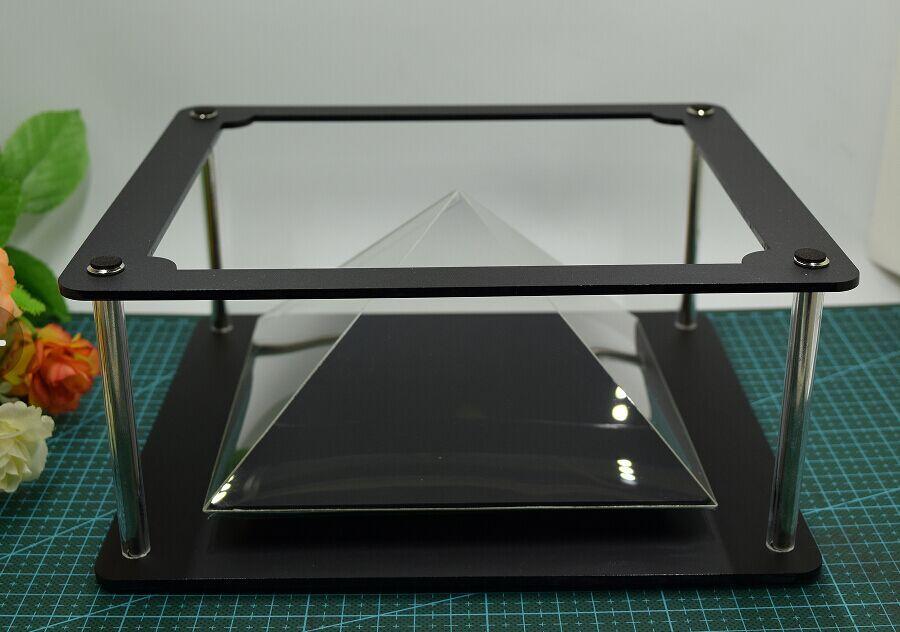imágenes para 3d pantalla holograma holograma para tablet pc para el ipad mini caja para el ipad 2 equipo de publicidad holos pirámide holograma 3d 2017