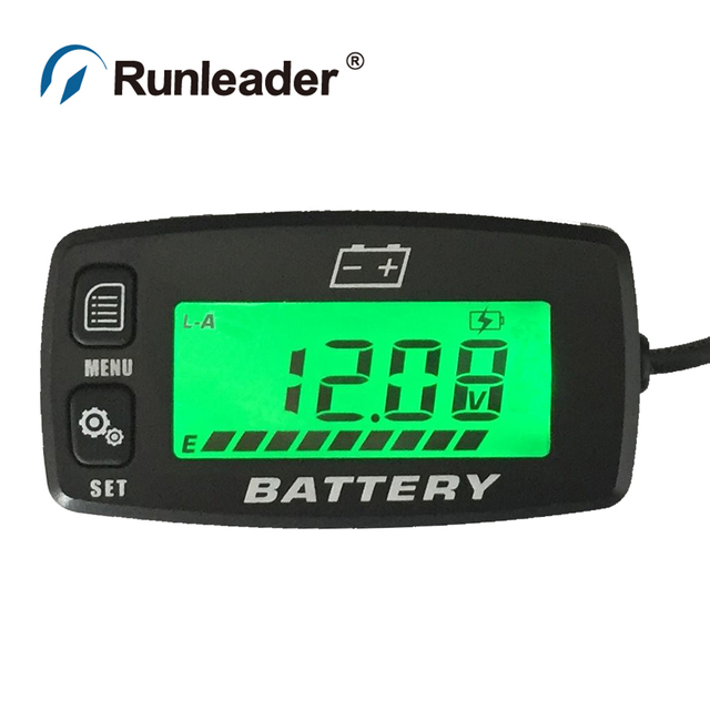 Runleader RL-BI008 BACKLIGHT Lead acid battery GEL AGM Voltmeter battery indicator FOR Motorcycle ATV Tractor MARINE boat car