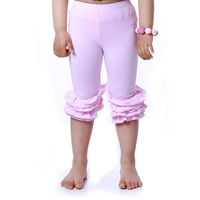 5ffcbb37e4237 Hot Sale Girls Capri Leggings Ruffle Pants Toddler Girl Clothing Posh  Cotton Pants Girl Ruffles Leggings