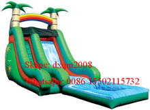 2016 Super bounce house swimming pool inflatable water slide with blower for adults and kids
