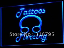 I484 Tatuajes Del Cuerpo Del Anillo Piercing Shop LED Neon Light Sign On/Off 7 Colores