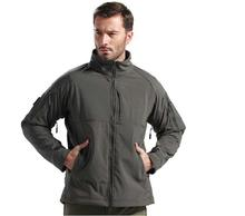 Outdoor Multicam Breathable Softshell Jacket Men's Tactical Hunting Waterproof Windproof Jacket Soft shell with Fleece Lining