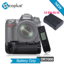 Mcoplus BG-DR7000 Vertical Battery Grip + EN-EL15 Battery for Nikon DSLR D7000 Camera With 2.4Ghz Wireless Remote Control