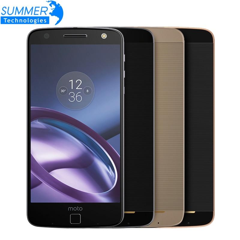 Original Motorola MOTO Z XT1650-05 Mobile Phone 4GB RAM 64GB ROM 4G LTE 5.5 inch 2560x1440 Quad Core 5.0MP 13.0MP Smartphone
