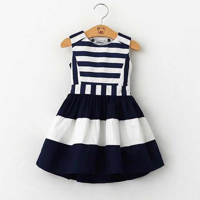 Girl Dress 2017 Summer Dress Baby Clothing Military Style Brand