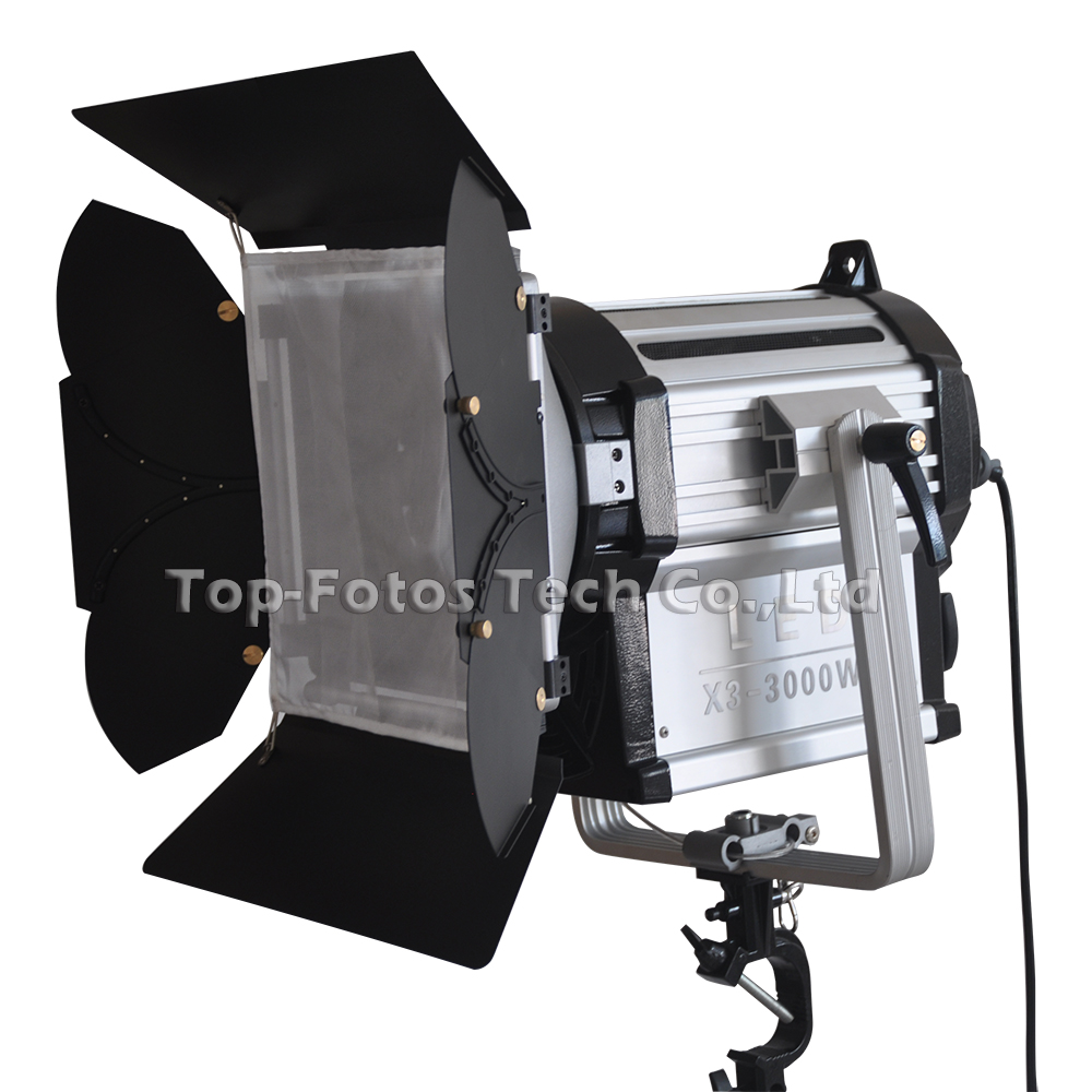 ALUMOTECH 300W LED Fresnel Dimmable Bi color Wireless Remote Spotlight for video studio