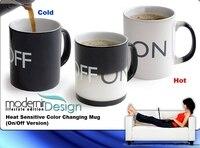 бесплатная доставка новый веселые изменение цвета включения / выключения ручка для чашку кофе керамическая кружка офис кружка новинка подарок