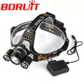 Hot Boruit 5000 Lumen Super Bright 3X XML T6 LED Lantern Headlamp Headlight LED Head Light Lamp linternas for Hiking
