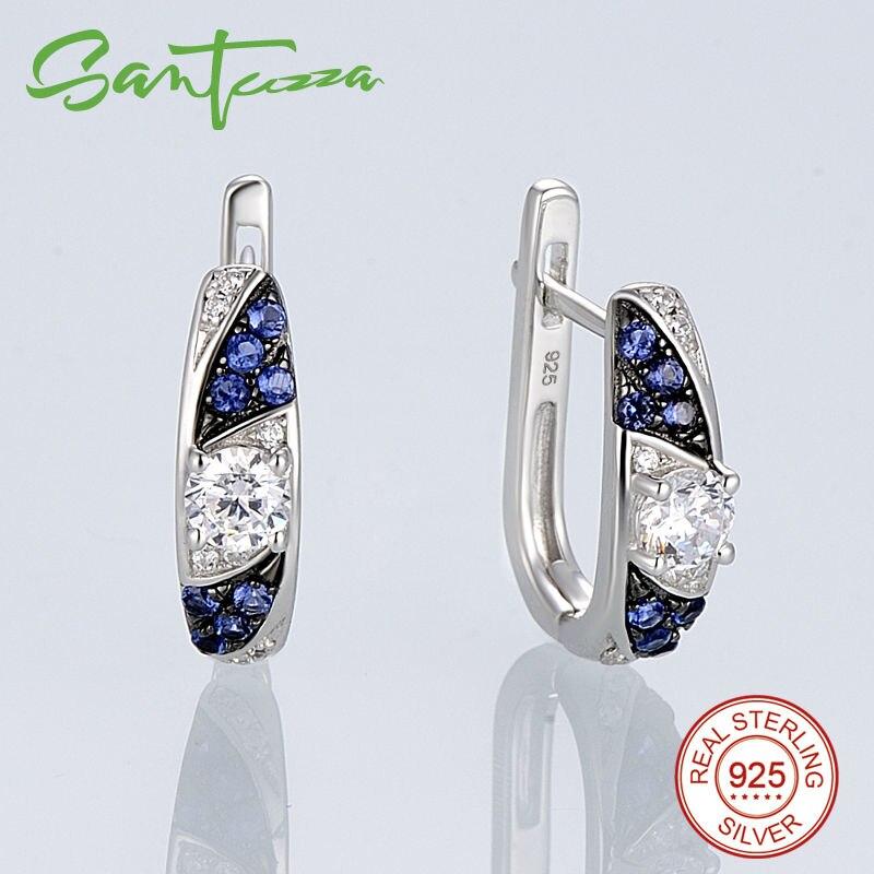 Silver Earrings-E306058SBZZSK925-SV1-W