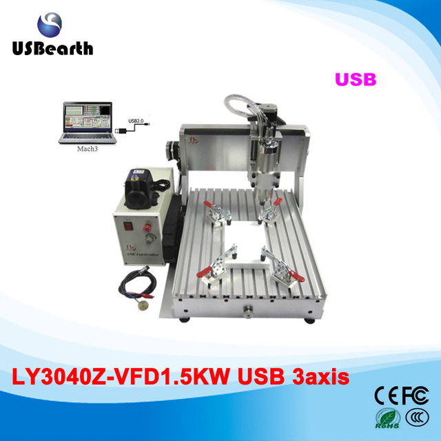 LY 3040Z-VFD1.5KW USB 3axis cnc milling woodworking machine