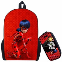 17 Inch Mochilas Infantil Miraculous Ladybug School Backpack For Teenage Cat Noir Children School Bag With