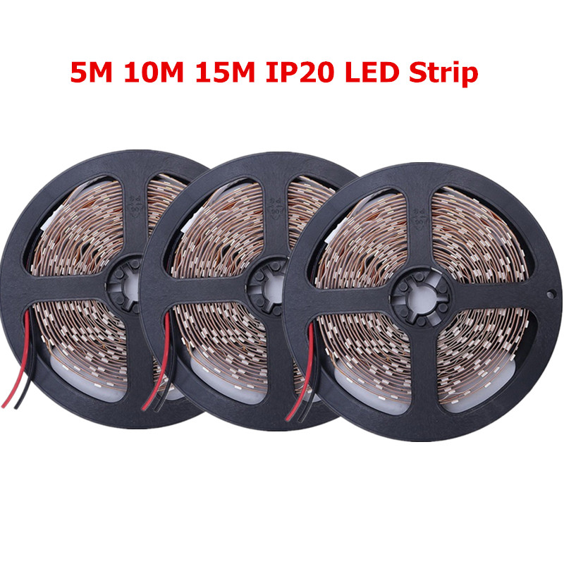 5m 10m 15m 2835 led strip light dc12v non waterproof fita. Black Bedroom Furniture Sets. Home Design Ideas