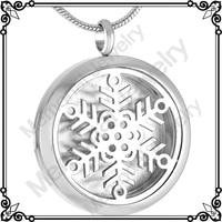 MJP0015 Memorial Jewelry Snowflake Aromatherapy Essential Oil Perfume Diffuser Locket Pandent Necklace
