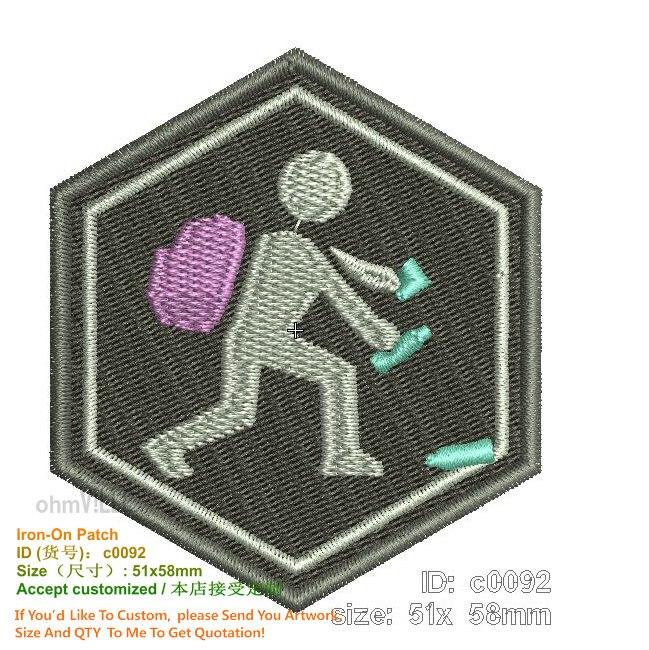 Patchs à repasser de personnalisation de Promotion brodés Patch personnalisé 3d appliqué à la main écologique pour vêtements