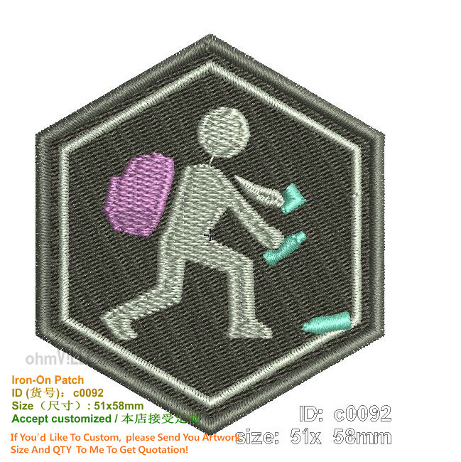 Promotion Customization Iron on Patches Embroidered Eco friendly Handmade 3d Appliqued Custom Patch For Clothing