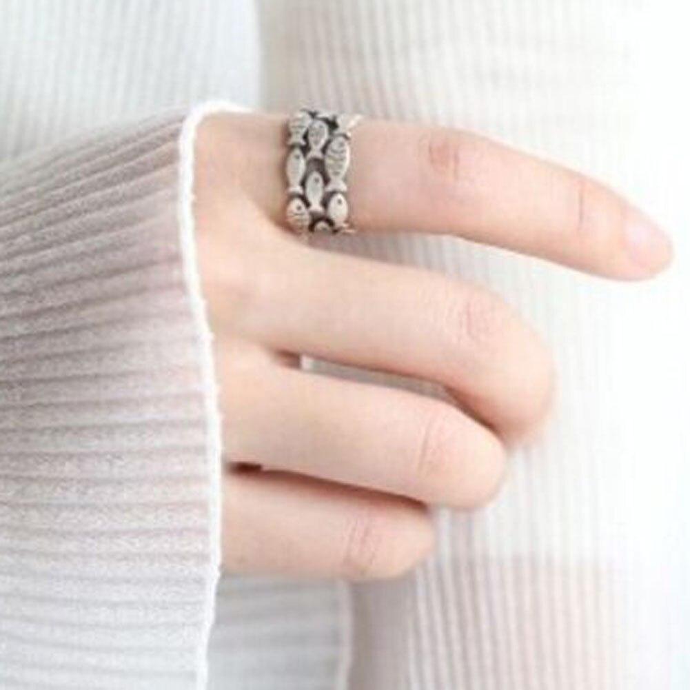 2017 New Fashion Fish Rings For Women Adjustable Wedding