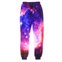 2016 Fashion Galaxy Joggers Pants Women Men Bacon Cat Space 3d Print Jogger Pants Sweatpants Gym