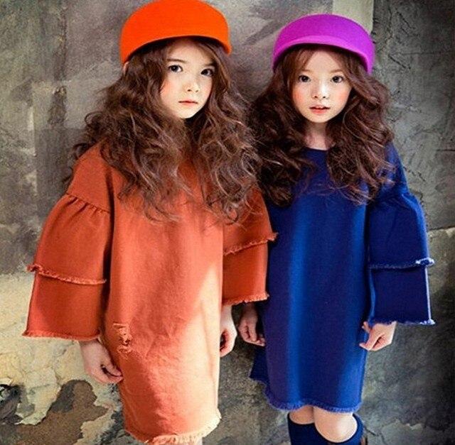 Atacado New Coreano Elegante Meninas Drapeado Vestido Com Capuz Outwear Moda Outono Casaco Meninas Podem Escolher Os Tamanhos e Cores