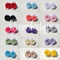 30 sets/lot Baby Barefoot Sandals with Chiffon Flowers QueenBaby