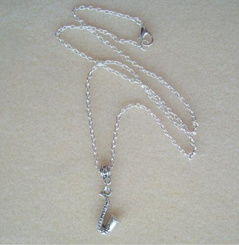 Monili di modo retro musica sassofono musica jazz blues dichiarazione  collare ciondolo collana catena di gioielli per le donne regalo 10 pz lotto cd2fd5586e56