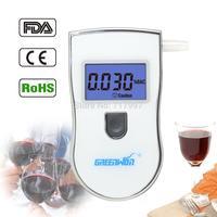 10 Mouthpiece White Original Manufacturer High Precision Digital Alcohol Tester Breathalyzer With 5 Mouthpieces