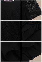 бесплатная доставка платье сексуальное большой размер платья plus010 лето черное кружево платье женской одежды для блузки женская платье