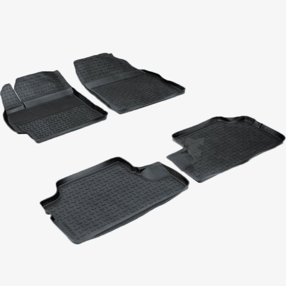 For Toyota Corolla E150 2007-2013 rubber floor mats into saloon 4 pcs/set Seintex 01030 for toyota corolla e120 2002 2007 floor mats into saloon 4 pcs set element nlc4803210k