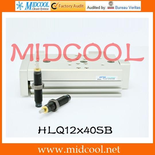 Original AirTAC Compact slide cylinder(Recirculating linear ball bearing) HLQ Series HLQ12x40SB original airtac compact cylinder ace series ace125x300