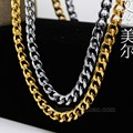 Alta calidad 24 K oro / platino plateado 76 cm largo Cuban Link hiphop miami collar llamativo cadena joven cielos Jay-Z hombre de la joyería