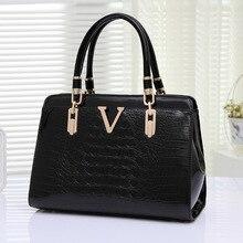 2017 europäische und Amerikanische mode frauen casual einkaufstasche. große kapazität frauen handtaschen Krokodil umhängetaschen bolsa feminina