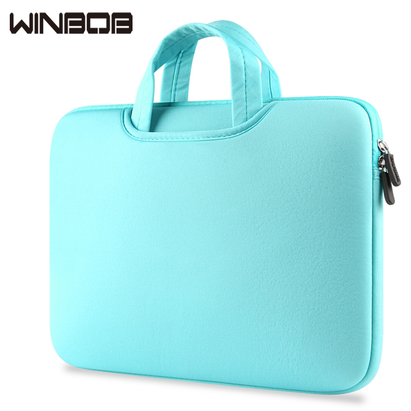 WINBOB Official Store Winbob New Laptop Handbags Sleeve Case For Macbook Laptop AIR PRO Retina 11 13 15 15.6 inch Notebook Bags