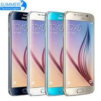 Débloqué Original Samsung Galaxy S6 G920F G925F Bord Mobile Téléphone Octa Core 3 GB RAM 32 GB ROM 16MP GPS NFC Rénové Smartphone