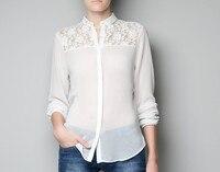 новый белый черный женская блузки с длинным рукавом kruger Chef рубашка женщины femininas бренд женская одежда бесплатная доставка в бразилиа