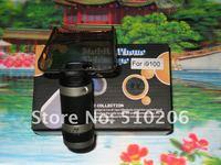 оптовая продажа бесплатная доставка 8-кратным оптический зум 18 мм мобильного телефона телескоп для samsung галактики S2 i9100 модель D с II, обьем moq : 1 шт