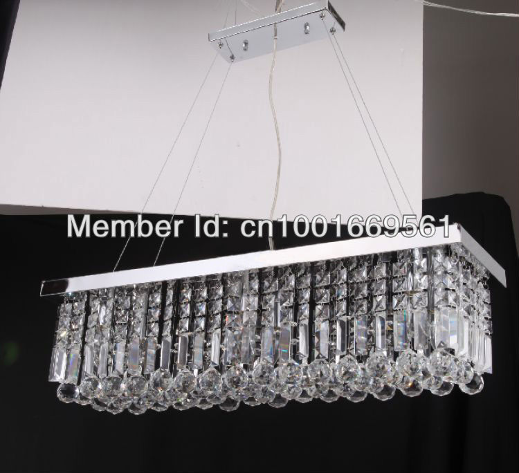 Free Modern Minimalist Living Room Restaurant Bedrooms Amber Crystal Chandelier 12
