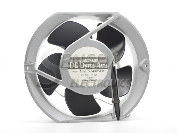 Для Sanyo 109E5748H5H03 17251 172mm 17 см постоянного тока 48В 0.28A механические металлические Алюминий рамка вентилятор-инвертор для сервера