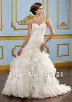 мода современный русалка милая развертки / кисти раза органза алансон из бисера свадебное платье свадебное платье
