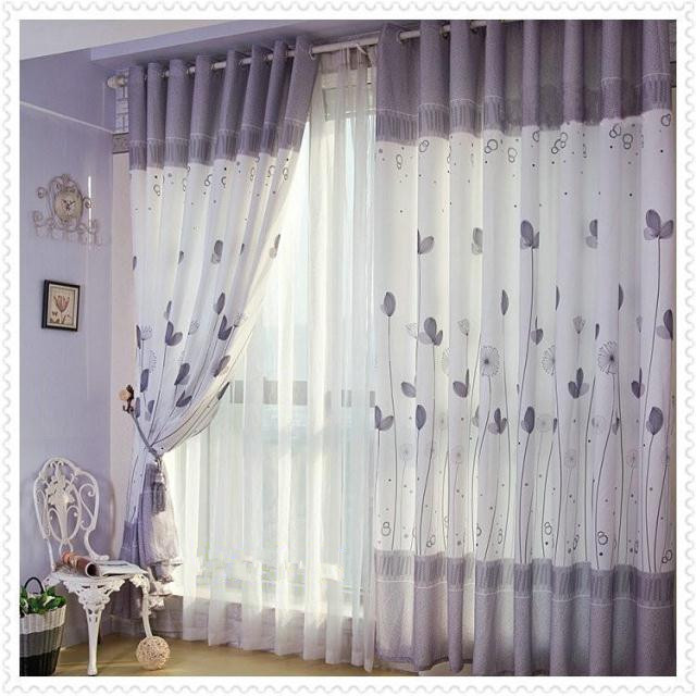 Gedruckt Hälfte Licht Schlafzimmer Oder Wohnzimmer Fenster Der Bestellung  Vorhänge Für Wohnzimmer Balkon Vorhänge Hohe 2